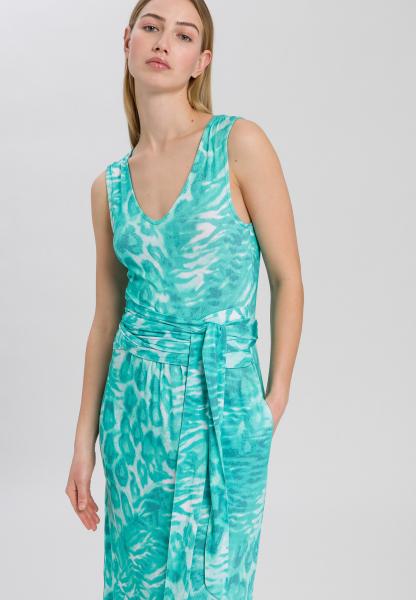 Jerseykleid mit Animal-Alloverprint