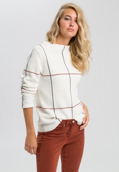 Pullover mit feinem Karo
