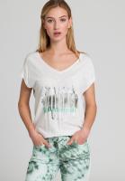 T-Shirt mit rundem Schriftprint