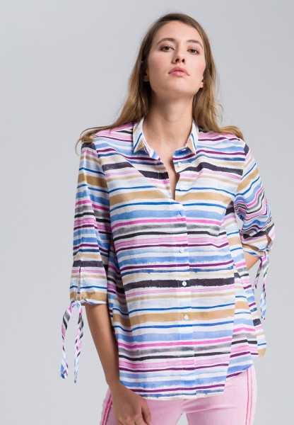 Hemdbluse im Streifendesign