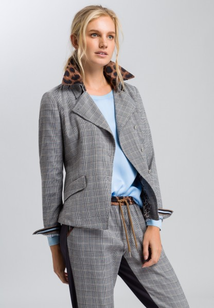 Blazer in a prince of wales check pattern