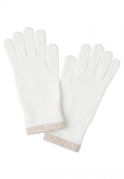 Fingerhandschuhe mit Kontrastkante
