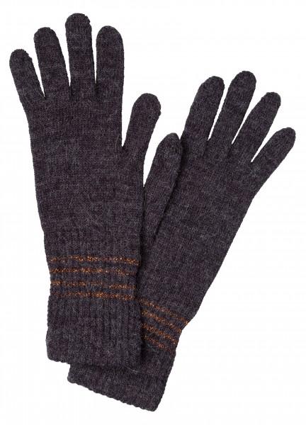 Handschuhe mit Lurexstreifen