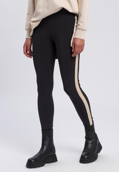 Leggings mit kontrastfarbenem Seitenstreifen