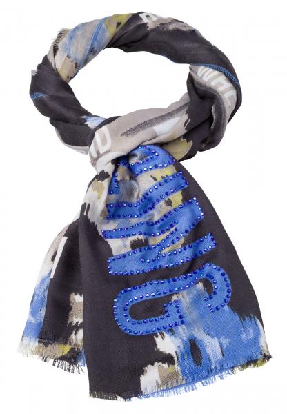 Schal mit Ethno-Blumen-Druck