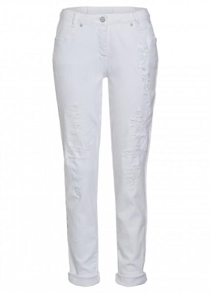 Jeans mit Destroyed-Elementen