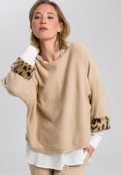 Pullover mit Leoparden-Applikation