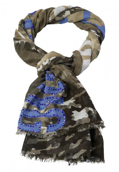 Schal mit abstraktem Camouflageprint