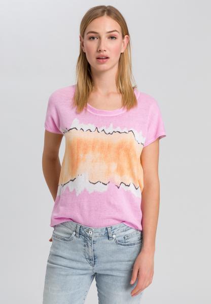 T-Shirt mit Colour-Blocking-Streifen