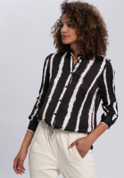 Bluse mit Batik-Streifen