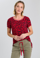 Blusentop mit Leoparden-Muster