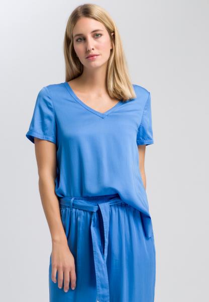 Blusenshirt aus fließendem Satin