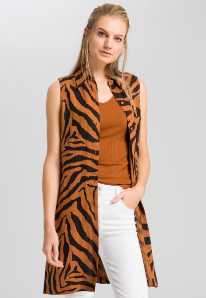 Longbluse mit Tigermuster