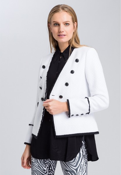 Blazer with contrast details