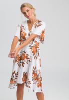 Kleid mit Blumen-Alloverprint