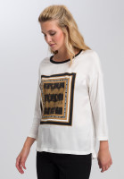 Shirtbluse mit Batikfrontprint