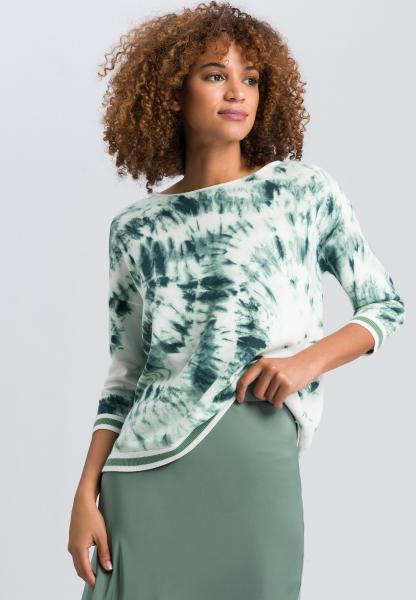 Pullover im Batikprint
