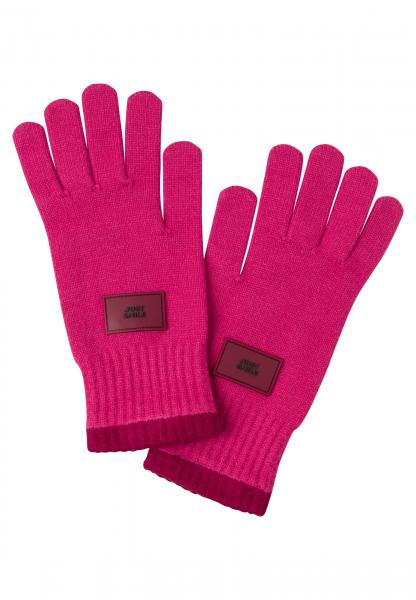 Fingerhandschuhe in modischem Pink