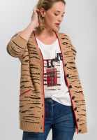 Strickjacke mit Tiger-Muster