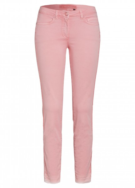 Hose mit offenen Saumkanten
