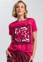 Shirtbluse mit quadratischem Frontprint