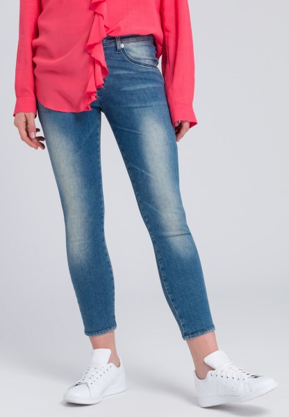 Slim-fit-Jeans mit Used-Waschung