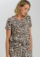 Blusentop mit Leopardenprint