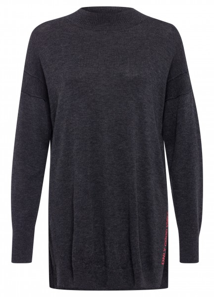 Longpullover mit Wolle