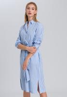 Hemdblusenkleid mit feinen Streifen