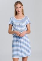 Jerseykleid mit Streifenprint