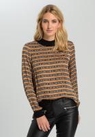 Bluse mit Streifen und Typo-Design