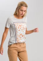 T-Shirt mit appliziertem Animalprint