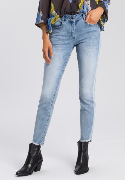 5-Pocket-Jeans mit Fransen-Saum