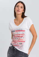 T-Shirt mit Leoparden-Patchworkprint