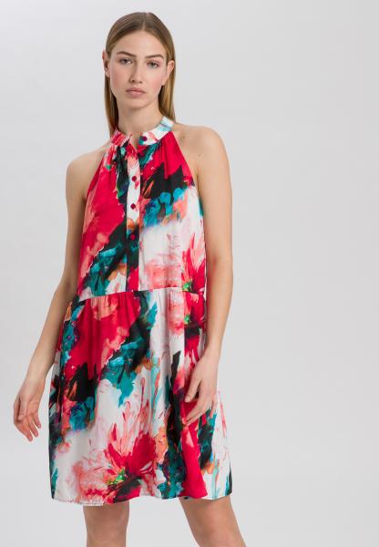 Kleid im Aquarell-Blumen-Print