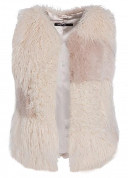 Weste aus Fake Fur