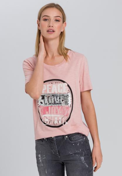 T-Shirt mit Paillettendetail
