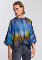 Bluse mit Batik-Muster