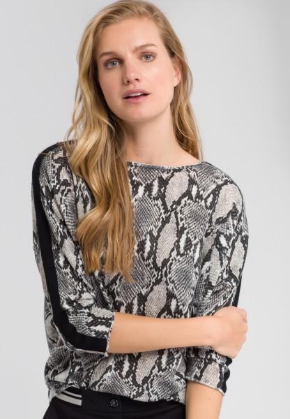 Pullover mit Schlangenprint
