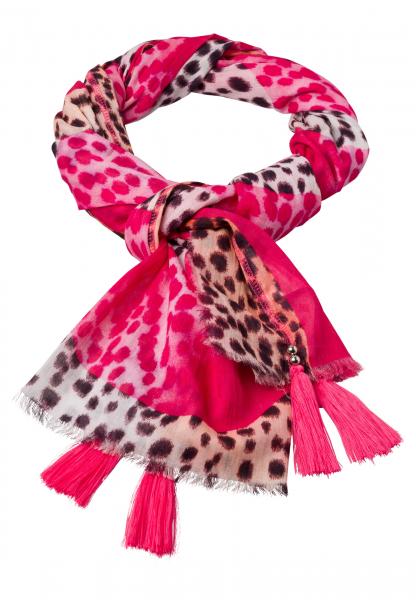 Rechteckiges Tuch im Leopardenlook