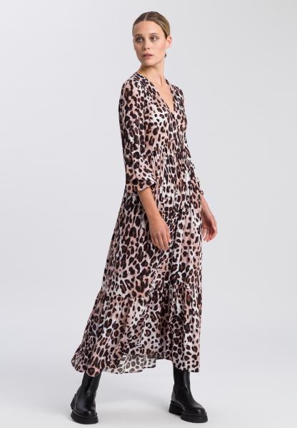 Kleid mit Leo-Print