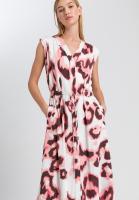 Maxi-Kleid im modernen Aquarellprint