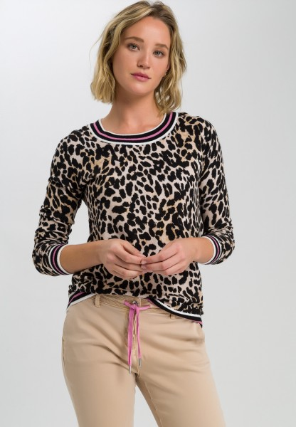 Pullover im Leopardendruck