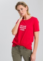 T-Shirt mit Message Print
