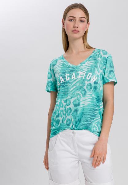 T-Shirt mit Animal-Alloverprint