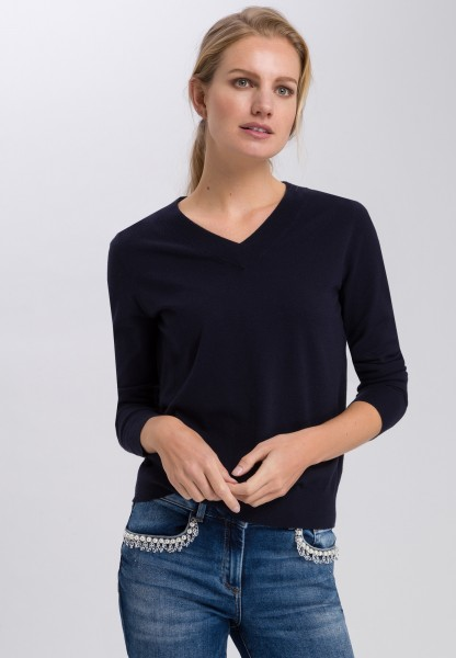 Pullover im Basic-Look mit V-Ausschnitt