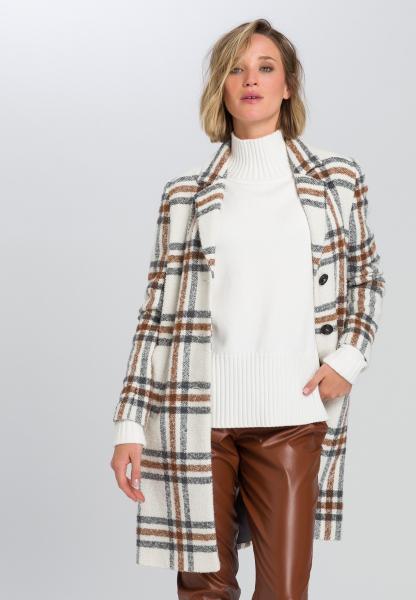 Mantel im Tweed Karo