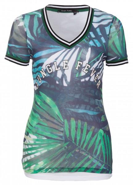 T-Shirt mit Dschungelprint