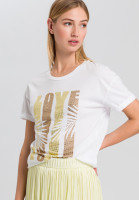 T-Shirt mit Paillettenschrift