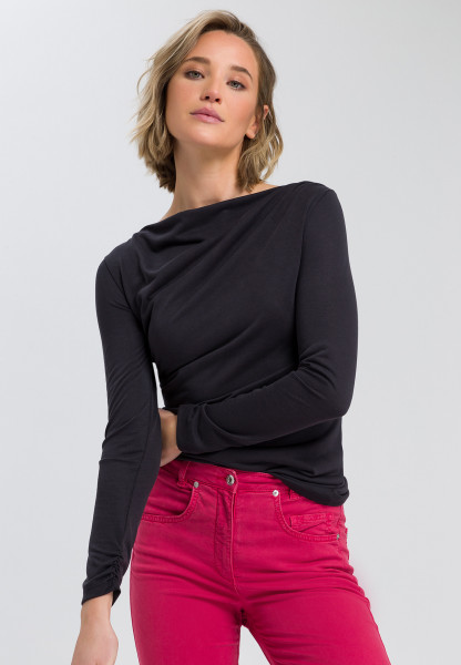 Langarmshirt mit Drappier-Effekt
